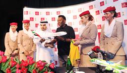 Pele in Dubai in January when he was announced as a Global Ambassador for Emirates, an Official FIFA Worldwide Partner.