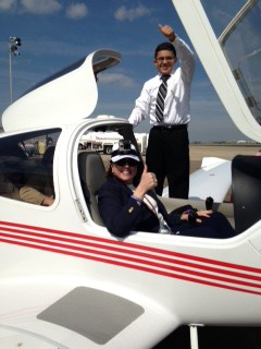 © Houston Airport System High School Junior, Ronald Mejia, is pursing a career in aviation with the help from the HAS Aviation Club.