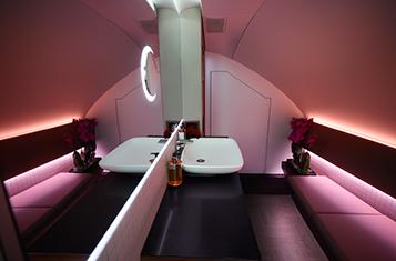 Qatar Airways' A380 First & Business Class Bathroom