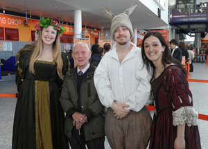 easyJet and Shakespearean actors support campaign at Bristol Airport to recognise 23 April as National William Shakespeare Day