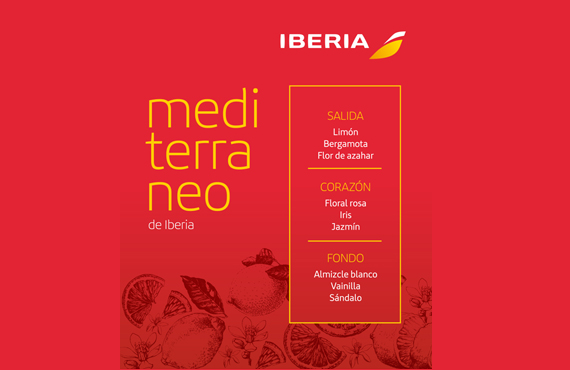 "Iberia becomes the first airline to create its own scent ""Mediterráneo de Iberia"""