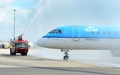 Photo Caption: Leeds Bradford Airport welcomes the Embraer 190 KLM Cityhopper.