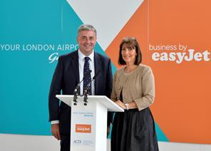 Stewart Wingate and Carolyn McCall at London Gatwick