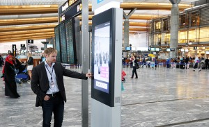 Oslo Airport launches new self-service information kiosks to help passengers navigate their way around Norway's main airport