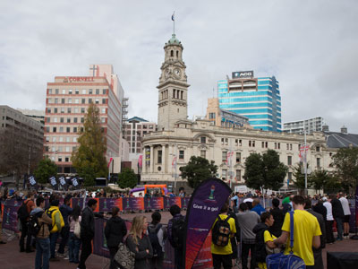 Auckland - FIFA's One Year to Go celebrations