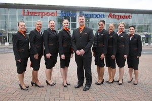 easyJet celebrates 15 years of operation from Liverpool John Lennon Airport by welcoming 17 new Cabin Crew