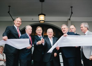 New Brunswick Premier, David Alward with New Castle Hotels & Resorts, Southwest Properties and Marriott International officials  commemorate the grand re-opening of the Algonquin Resort
