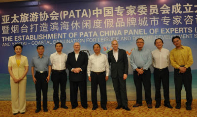 Picture L/R: Ms Hua Zhu, Director General, Fujian Provincial Tourism Administration; Mr Zhongwu Yang, Director General, Shaanxi Provincial Tourism Administration; Mr Kangli Hao, Director General, Sichuan Provincial Tourism Administration; Mr John Koldowski, Special Advisor, PATA; Mr Chong Yu, Director General, Shandong Provincial Tourism Administration; Mr Mario Hardy, Chief Operation Officer, PATA; Mr George Berean, Senior Advisor, WATG; Mr Yunfeng Jia, Expert of UNWTO; and Mr Bo Wu, Regional Director - Greater China, PATA