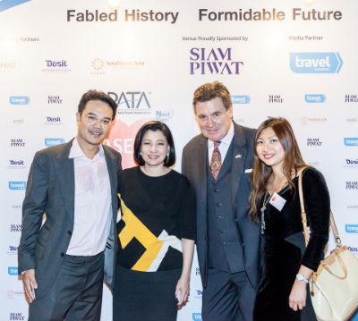 Picture: L/R: Prinn Panitchpakdi, Country Head, CLSA; Chadatip Chutrakul, CEO, Siam Piwat; Martin Craigs, CEO, PATA; and Ivy Chee, Regional Director – East Asia, PATA
