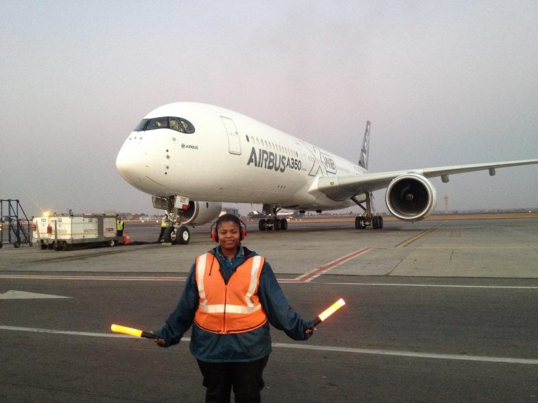 Airbus A350XWB made its African debut at O.R. Tambo International Airport