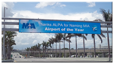"The Air Line Pilots Association, Int'l (ALPA) to honor Miami International Airport (MIA) as its ""2013–2014 Airport of the Year"""