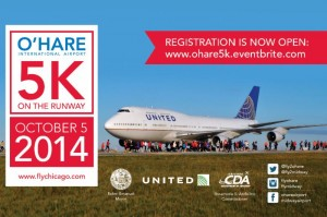 "The Chicago Department of Aviation and United Airlines open registration for O'Hare 5K ""Run On the Runway"" to benefit the Wounded Warrior Project"