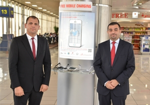 Bahrain Airport Company installs eight new mobile charging stations at both the arrivals and departures areas of the Bahrain International Airport