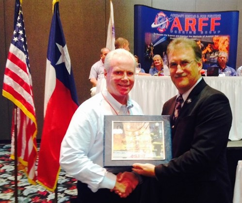 Massport Fire Rescue Chief Robert Donahue honored with ARFF Working Group Outstanding Service Award