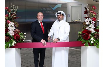Hamad International Airport Chief Operating Officer, Mr. Badr Al Meer (right) and The Airport Hotel General Manager, Mr. Philippe Anric (left), at the official opening of The Airport Hotel