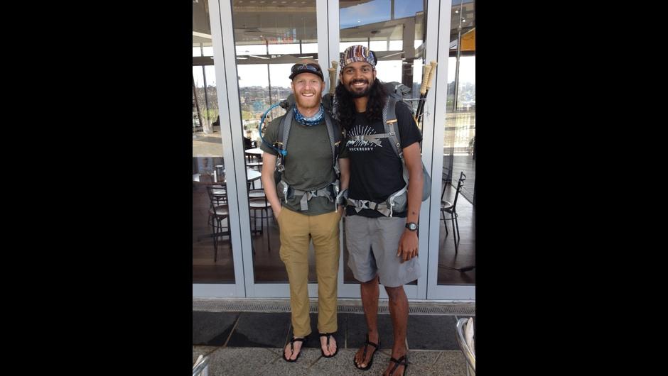 Dan Opalacz (L) and Naresh Kumar (R) before commencing Te Araroa  Credit: Te Araroa Trust