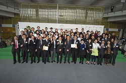 A total of 42 airport tenants are presented with awards to commend their exceptional effort in environmental management in the HKIA Environmental Management Recognition Scheme award presentation ceremony.