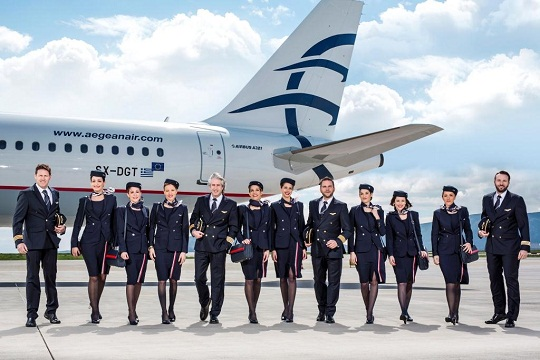 AEGEAN renews its image and evolving the presence of its staff members with new uniforms designed by renowned London-based Greek fashion designer Sophia Kokosalaki