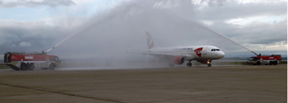 Liverpool John Lennon Airport (LJLA) celebrated Czech Airlines' inaugural service from Liverpool to Prague