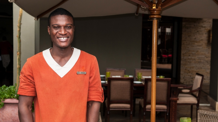 Serengeti Tourism College graduate Samwel Paul becomes the first to receive full time employment at Four Seasons Safari Lodge Serengeti