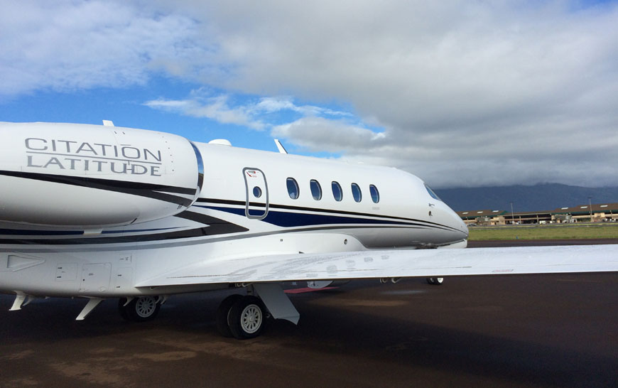 Textron Aviation Cessna Aircraft Company demonstrated the trans-Pacific capability of its newly FAA-certified Citation Latitude between the U.S. West Coast and Hawaii
