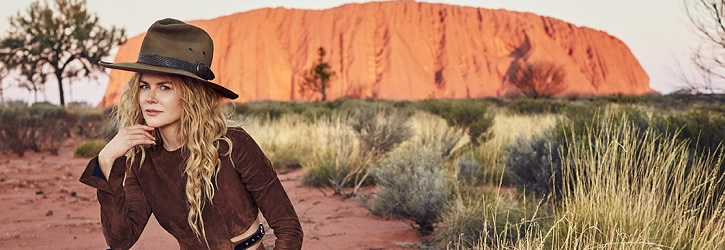 Tourism Australia: Vogue Australia's September issue features Nicole Kidman photographed at Uluru, one of Australia's most iconic landmarks