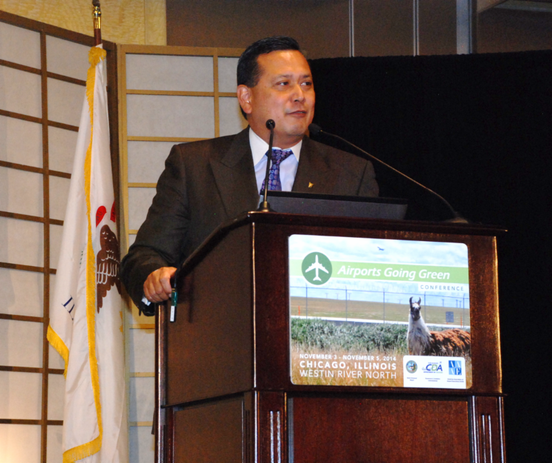 Eduardo Angeles, FAA Associate Administrator, at the 2014Airports Going Green Conference