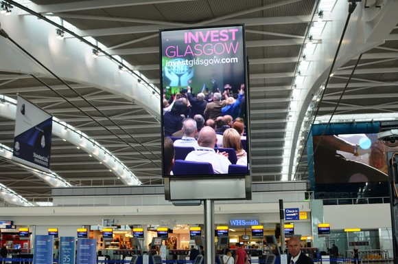 New advertisements featuring Glasgow as leading UK investment destination live at Heathrow Airport