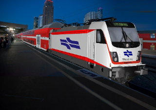 Graphic rendering of the BOMBARDIER TRAXX AC locomotive for Israel Railways