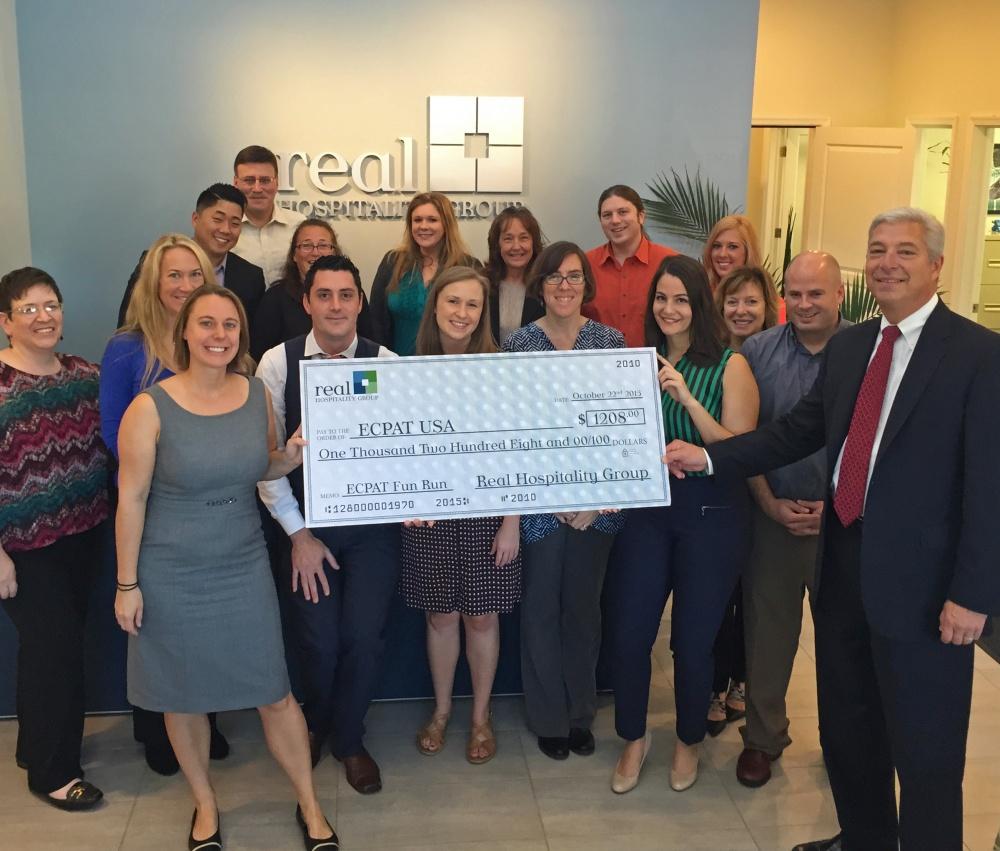 Real Hospitality Group donates to ECPAT – USA