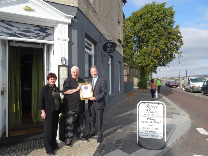 River House restaurant the first standalone restaurant in Inverness city centre to receive VisitScotland Taste Our Best award