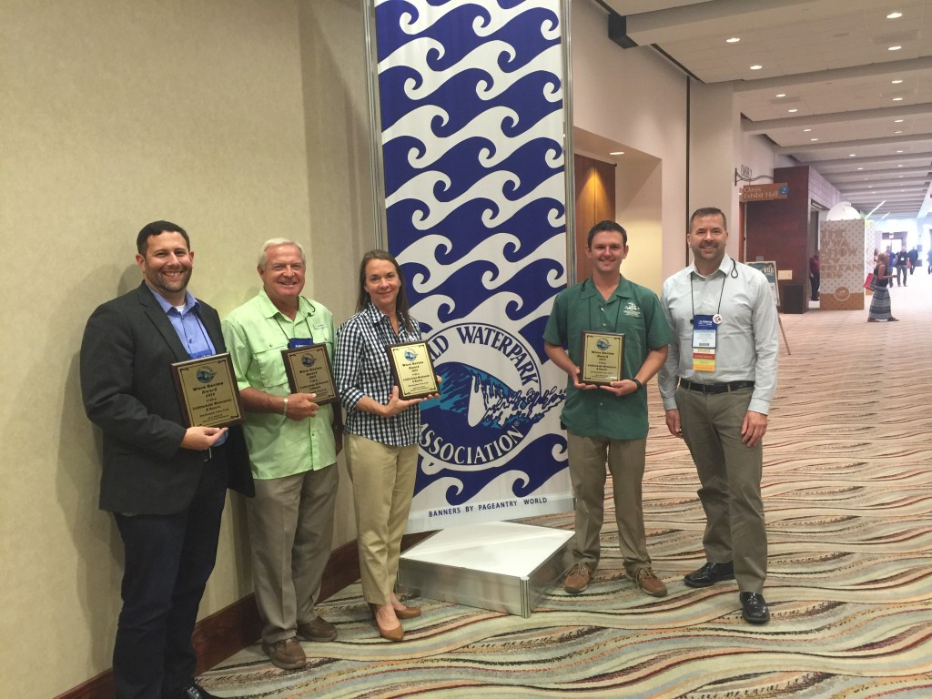 Schlitterbahn Waterparks and Resorts won 4 awards at the annual Wave Review Competition by the WWA in Palm Springs