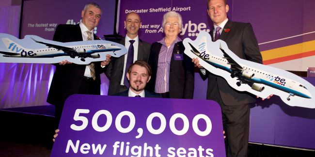 Flybe launches eight new routes including two major European hub airports from Doncaster Sheffield Airport