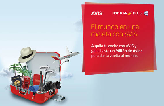 """Avis Car Rental e Iberia estrenan """"El Mundo en una maleta"""", una promoción con la que repartirán cinco millones de Avios entre sus clientes para dar la vuelta al mundo"""