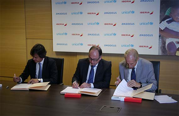 "Iberia, UNICEF Spain and Amadeus renew agreement to collect customer donations for the UNICEF ""100% Vaccinated Children"" programme"