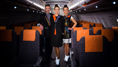 easyJet unveils world first in airline uniforms by incorporating wearable technology into cabin crew and engineers' uniforms