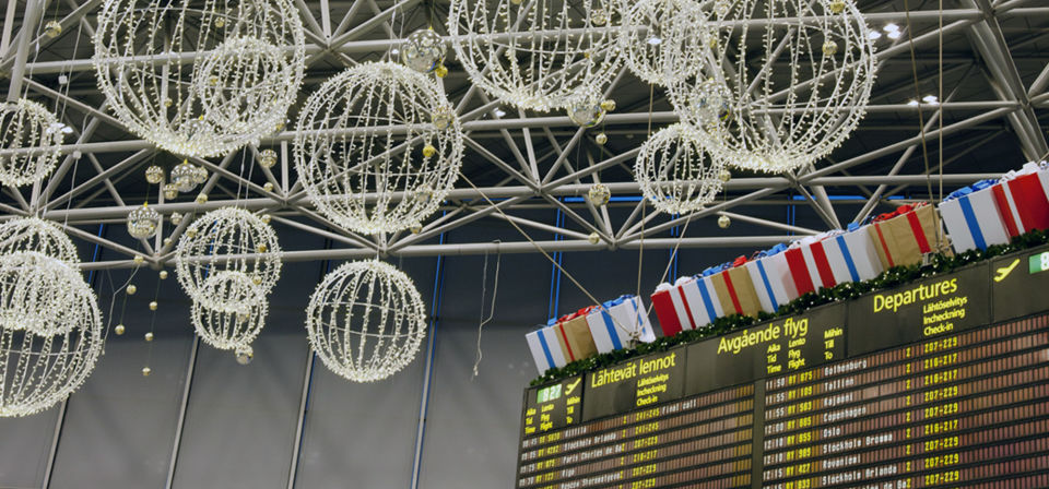 Helsinki Airport brings Finnish style Christmas to passengers this year