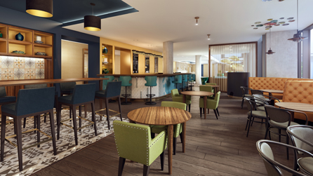His imaginative ideas and lively personality caught the attention of Hilton Bournemouth and he was quickly put forward and chosen for the head bartender role. Credit: Hilton Hotels & Resorts.