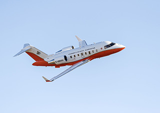 Hong Kong Government Flying Service's Specialized Challenger 605 Aircraft in flight