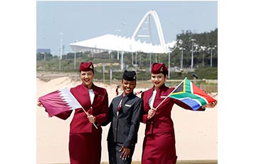 Qatar Airways increases operations in South Africa with the launch of new services between Doha and Durban