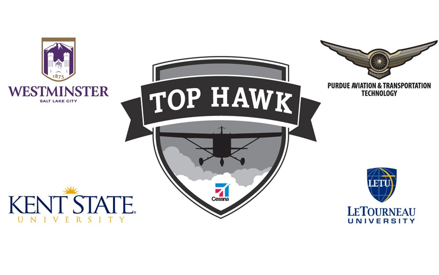 Cessna Aircraft Company announces partner universities selected for its 2016 Top Hawk program