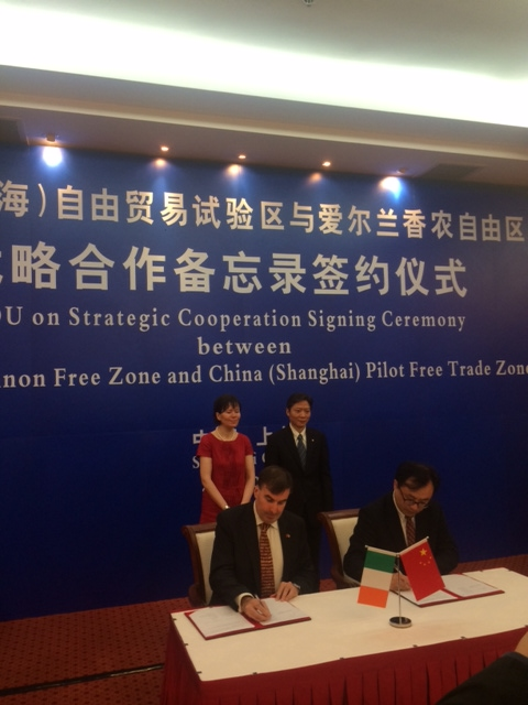 Shannon Free Zone signs economic cooperation MOU with China (Shanghai) Pilot Free Zone
