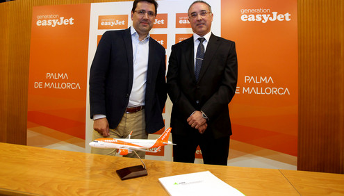 easyJet will base three Airbus A319/320 aircraft in Palma between March and October from 2017