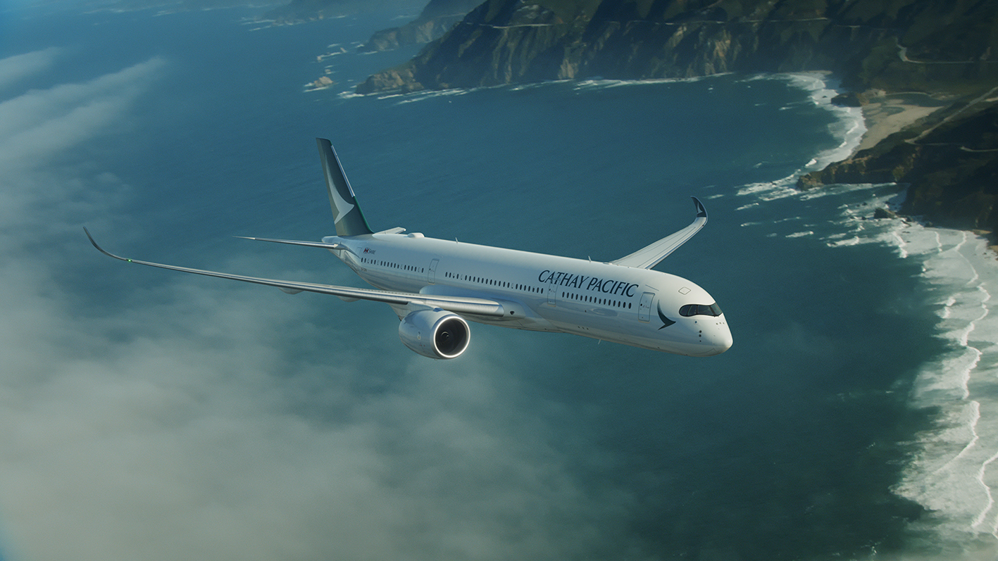 Cathay Pacific Airways took delivery of its first Airbus A350-900XWB aircraft