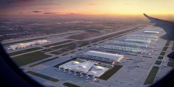 Four of the UK's leading architectural practices showcase striking new concepts for Heathrow's vision for expansion