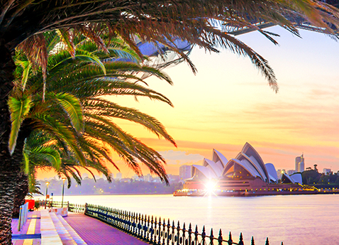Australia, New South Wales, Sydney, Oceania, Sydney Opera House, Sydney Harbor Bridge, Opera House and Harbor bridge by night