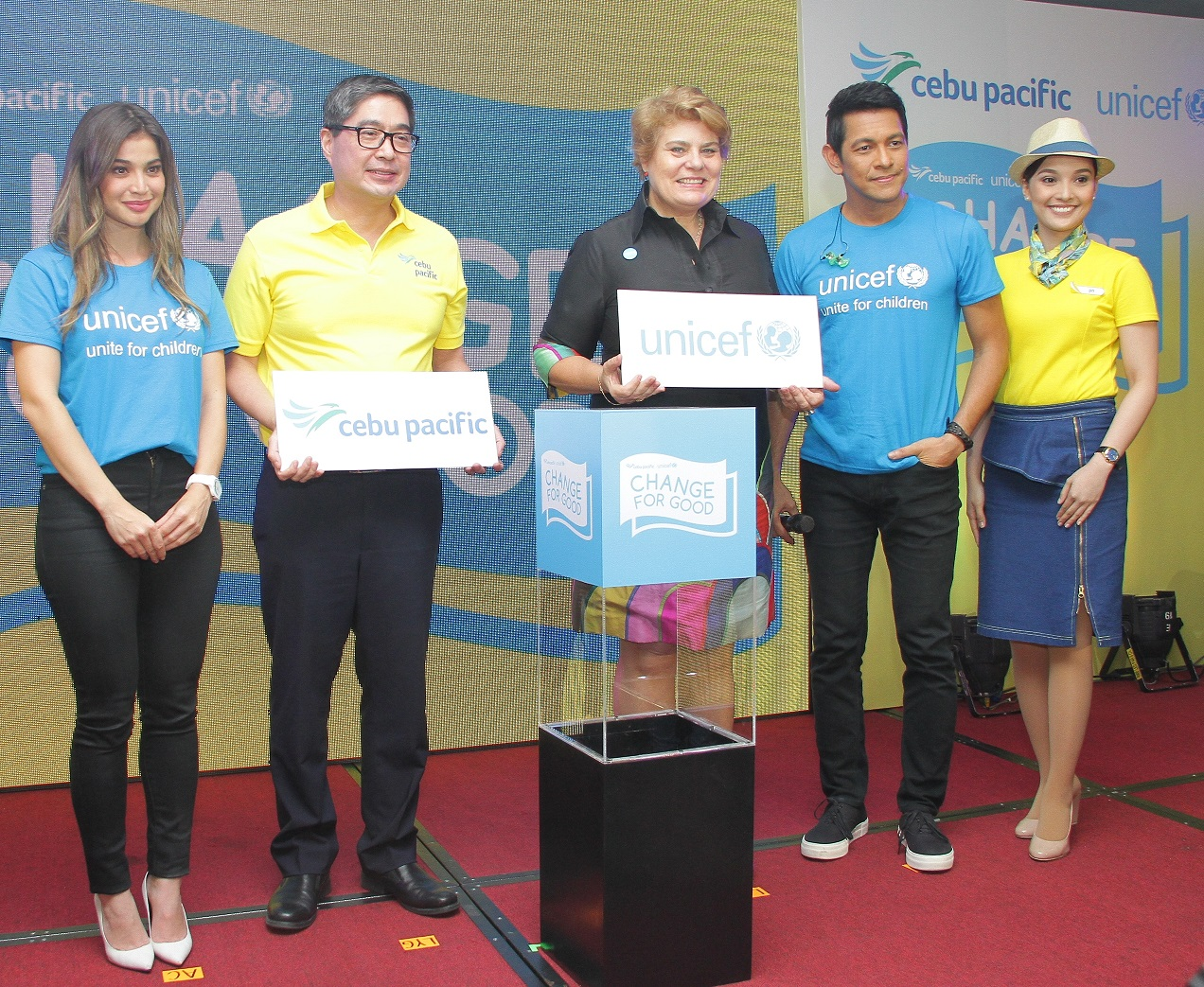 Cebu Pacific and UNICEF partner to launch Change for Good program to bring health and nutrition to infants and young children in the Philippines