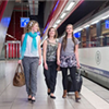 Passengers can again use the new train station that gives direct access to the departures hall in Brussels Airport