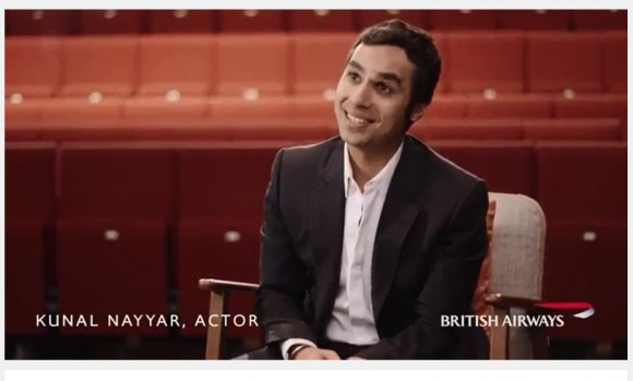 British Airways features Big Bang Theory star Kunal Nayyar in its first 'Make Amazing Things Happen' video series