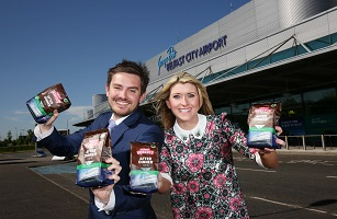 Coffee company Robert Roberts selects George Best Belfast City Airport as the latest local landmark to appear on its coffee packaging